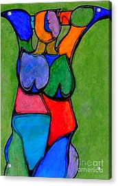 A Womanist Personality Acrylic Print by Antione Leonard