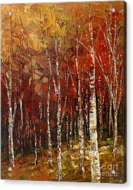 Acrylic Print featuring the painting A Woodpath by Tatiana Iliina