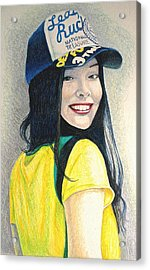 A Young Girl With A Cap Acrylic Print