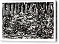Aaron Battles The Ogre Acrylic Print by Al Goldfarb