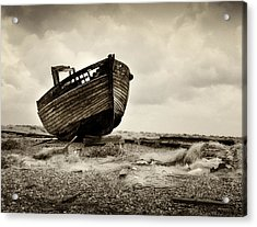 Abandoned At Dungeness Acrylic Print by David Turner