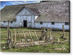 Abandoned Barn Acrylic Print by Eddie Yerkish