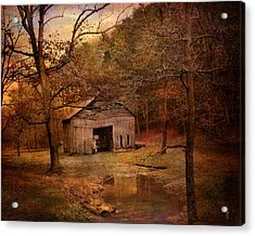 Abandoned Barn Acrylic Print by Jai Johnson
