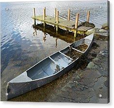 Acrylic Print featuring the photograph Abandoned Canoe by Lynn Bolt