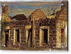 Acrylic Print featuring the digital art Abandoned Farmhouse by Blair Stuart