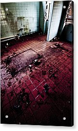 Abandoned Locker Room Acrylic Print by Christopher Kulfan