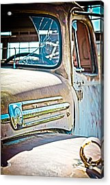 Abandoned Red Truck Acrylic Print
