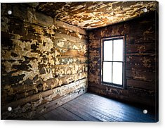 Abandoned Smoky Mountains Farm House - The Window Acrylic Print by Dave Allen