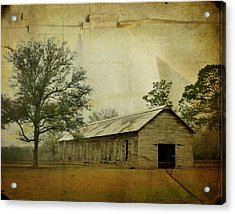 Abandoned Tobacco Barn Acrylic Print by Carla Parris