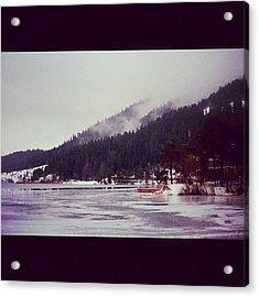 #abant #turkey #lake #winter #snow Acrylic Print