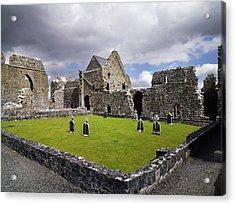 Abbeyknockmoy, Cistercian Abbey Of Acrylic Print by The Irish Image Collection