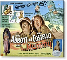 Abbott And Costello Meet The Mummy, Lou Acrylic Print by Everett