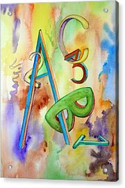 Abc And 123 Acrylic Print by Mary Kay Holladay
