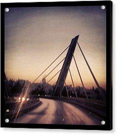 Abdoun Bridge, Jordan - Amman Acrylic Print by Abdelrahman Alawwad