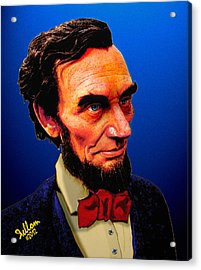 Abe Lincoln Blue Acrylic Print by Che Rellom