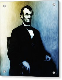 Abe Lincoln Seated Acrylic Print by Bill Cannon