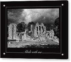 Abide With Me Acrylic Print by David McFarland