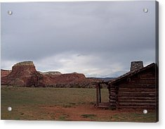 Acrylic Print featuring the photograph Abiquiu Cabin by Susan Alvaro