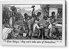 Abolitionist Cartoon Satirizing Slave Acrylic Print by Everett