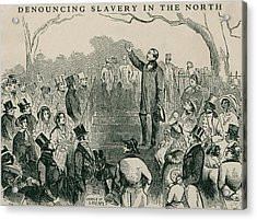 Abolitionist Wendell Phillips Speaking Acrylic Print by Everett