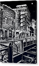 Acrylic Print featuring the photograph Above The River-walk by Joe Finney