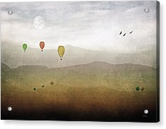 Above The Rolling Hills Acrylic Print by Tom York Images