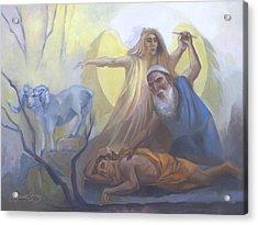 Abraham And Issac Test Of Abraham Acrylic Print