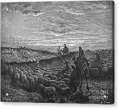 Abraham Entering Canaan Acrylic Print by Granger