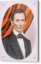 Abraham Lincoln 1809-1865, Lithograph Acrylic Print by Everett