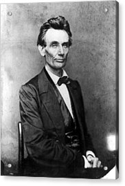 Abraham Lincoln 1860portrait By B Acrylic Print by Everett