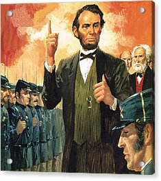 Abraham Lincoln Acrylic Print by English School