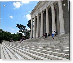 Abraham Lincoln Memorial Acrylic Print by Valia Bradshaw
