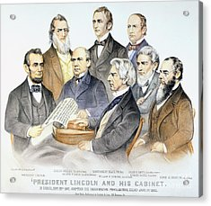 Abraham Lincolns Cabinet Acrylic Print by Granger