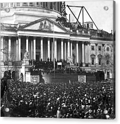 Acrylic Print featuring the photograph Abraham Lincolns First Inauguration - March 4 1861 by International  Images