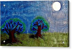 Acrylic Print featuring the painting Abres De La Lune by Ayasha Loya