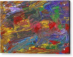 Abstract - Acrylic - Anger Joy Stability Acrylic Print by Mike Savad