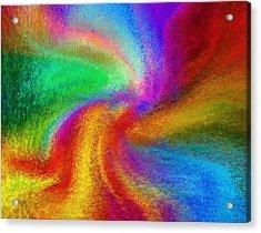 Abstract - Amorphous  Acrylic Print by Steve Ohlsen