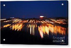 Abstract - City Lights Acrylic Print by Sue Stefanowicz