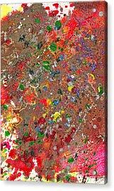 Abstract - Crayon - Montazuma's Revenge Acrylic Print by Mike Savad