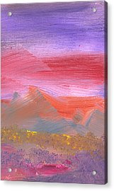 Abstract - Guash - Lovely Meadows 1 Of 2 Acrylic Print by Mike Savad