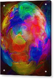 Abstract - The Egg Acrylic Print by Steve Ohlsen