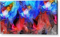 Abstract 032812a Acrylic Print by David Lane