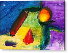 Abstract - Acrylic - Primitives Acrylic Print by Mike Savad