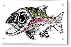 Abstract Alaskan Rainbow Trout Acrylic Print