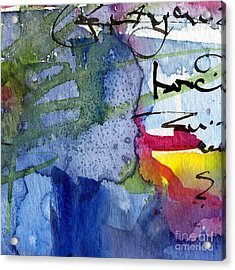 Acrylic Print featuring the painting Abstract Alge And Sea Modern Square  by Ginette Callaway