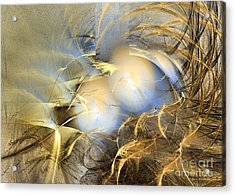 Abstract Art - Far From The Treacherous World Acrylic Print by Abstract art prints by Sipo