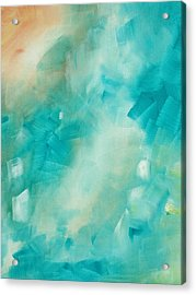 Abstract Art Colorful Bright Pastels Original Painting Spring Is Here II By Madart Acrylic Print by Megan Duncanson