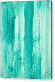 Abstract Art Original Decorative Painting Aqua Passion By Madart Acrylic Print by Megan Duncanson