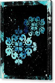 Abstract Art Original Decorative Painting Mysterious By Madart Acrylic Print by Megan Duncanson
