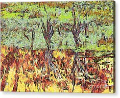 Abstract Artwork Acrylic Print by Odon Czintos